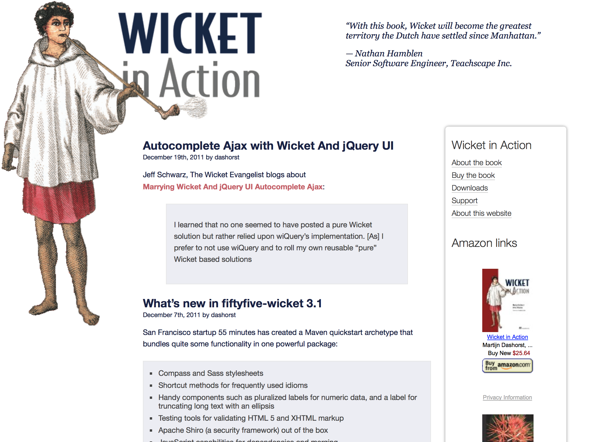 Screenshot of original Design of Wicket in Action
